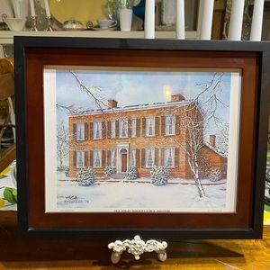 Vintage My Old Kentucky Home framed print